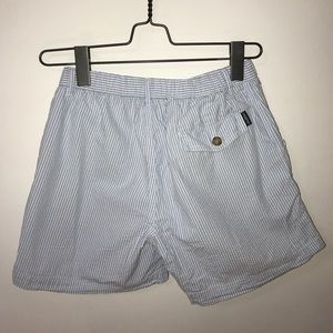 Shorts - BLUE AND WHITE STRIPPED SHORTS